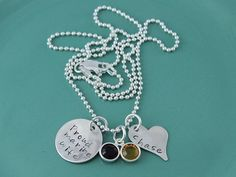 Proud Marine Wife Hand Stamped Necklace $ 46.00