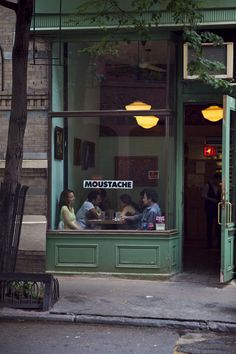 Moustache, west village, NYC