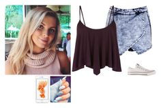 """""""Day with the girls"""" by cleo-scott ❤ liked on Polyvore featuring Boohoo and Converse"""