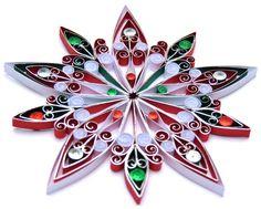 Décoration de Noël respectueux de lenvironnement, papier. Nom de la décoration : flocon de neige élaborée cette décoration est fait à la main avec