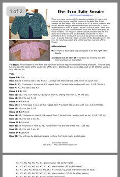 Baby Cardigan Knitting Pattern Free, Knitting Patterns Boys, Baby Sweater Patterns, Knitted Baby Cardigan, Knit Baby Sweaters, Sweater Knitting Patterns, Baby Patterns, Baby Knits, Free Knitting