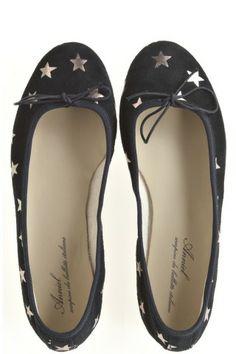 Navy Star Ballet Flats   Calypso St. Barth