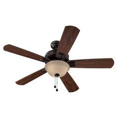 "Zoomed: Harbor Breeze 54"" Easy Breeze Antique Bronze Ceiling Fan (ENERGY STAR)"