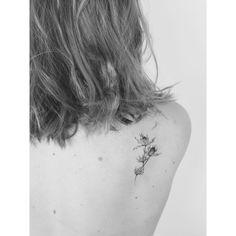 Lara Maju - thistle for amy handpoked at @cocoschwarz #handpoke #tattoo…
