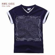 [ 20% OFF ] Firs Kids Boys Clothing Shirt For Boy 2016 New Fashion  Print Summer Tops Short Sleeve T-Shirts For Boys