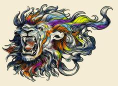 Linda Förstner ARTWORK: Lion Head Tattoo Design