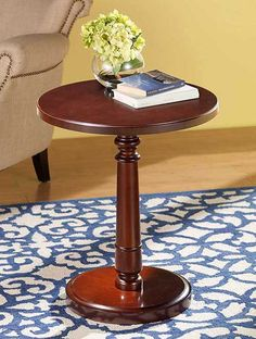 Solid Wood Accent Table from Tuesday Morning End Tables, A Table, Patina Style, Reading Table, Solid Wood Table, Tuesday Morning, Awesome Bedrooms, Home Staging, Living Room