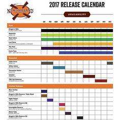 NEW HOLLAND BREWING RELEASES 2017 CALENDAR #releaseSchedule #2017 #CraftBeer