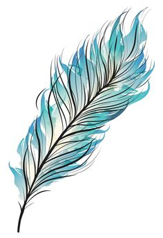Blue Feather Temporary Tattoo - Set of Our Bohemian Blue Watercolor Feather temporary tattoos is the perfect accessory for your next concert, party, or just because. Feather Drawing, Watercolor Feather, Feather Painting, Feather Art, Blue Feather, Feather Tattoos, Watercolor Paintings, Dandelion Tattoos, Bird Tattoos