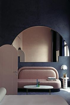 "Hotel Il Palazzo Experimental is designed to be ""deeply rooted"" in Venice Marble furnishings, lagoon-coloured walls and arched doorways are among the features that Dorothée Meilichzon has incorporated Palazzo, Interior Architecture, Interior Design, Glazed Tiles, Terrazzo Flooring, Holiday Apartments, French Interior, Marble Interior, Hotel Interiors"