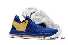 "free shipping e4e6a e3818 Nike KD 10 ""Golden State Warriors"" Blue Yellow-White Top Deals"