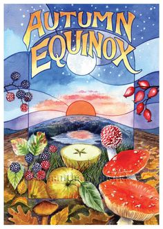 Herfst Equinox Card Keltische wiel van het jaar door AwenCreative