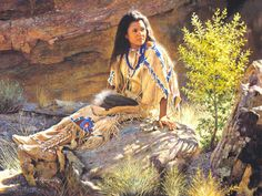 sketches of native american women | Pin it Like Image