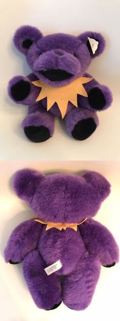 Grateful Dead 1620: Nwot 12 Vintage 1990 Purple Jointed Grateful Dead Plush Bear Liquid Blue -> BUY IT NOW ONLY: $46 on eBay!
