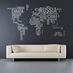 Decoración con mapas, un mundo en tu casa