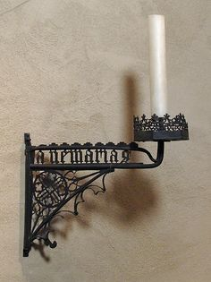 Candle Bracket Date: 15th century Culture: French or South Netherlandish Medium: Wrought iron Dimensions: Overall: 15 x 15 in. (38.1 x 38.1 cm) Classification: Metalwork-Iron