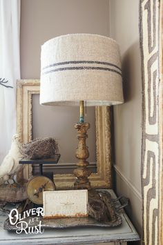 Oliver and Rust || Grainsack Lampshade: a DIY