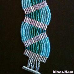 how to weave beaded bracelet,(Russian)