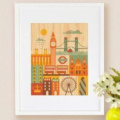 London, Small Framed Art