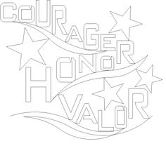 Words of Valor Courage - 1421 - $.02