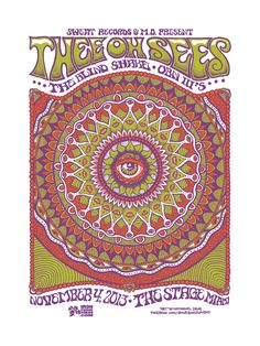 Thee Oh Sees show poster at The Stage in Miami