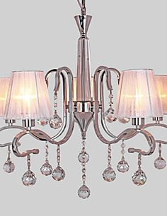 Max 40W Chandelier ,  Modern/Contemporary Electroplated Feature for Crystal Metal Living Room / Study Room/Office – GBP £ 123.24