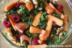 Juicing Recipe 2 - Cucumber Celery Kale Juice | Salad made from pulp  | www.juicingrecipeszone.com Cucumber Juice, Celery Juice, Kale Juice Recipes, Healthy Recipes, All Vegetables, Organic Vegetables, Pulp Recipe, How To Make Salad, Juicing