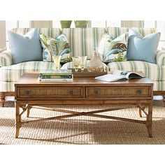 LX-0540-945 Tommy Bahama Beach House Ponte Vedra Rectangular Cocktail Table