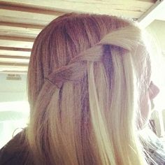 I did this myself. I call it a waterfall twist cause its a waterfall braid but you make two sections and rotate them dropping one each time and picking up a strand beside it.