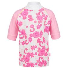Platypus Girls Camellia Blossom SS UV Swim Shirt - Click for more information and to buy