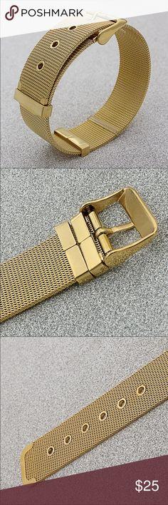 Gold plated gasp bracelet Fashion belt style bracelet in gold tone C I  Jewelry Bracelets
