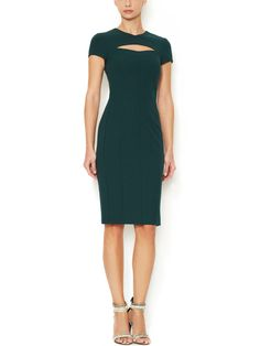 Cut-Out V-Neck Dress by Narciso Rodriguez