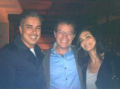 J. Enrique con sus amigos y compañeros, Ana Maria Orozco - a la izquierda
