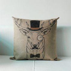 Retro-Chic-British-Style-Deer-Series-Pillow-Case-Fashion-Cushion-Cover