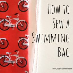 Swimming Bag Using Laminated Cotton || The Crafty Mummy