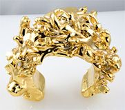 Gold Plated Resin Cuff by Christian Lacroix