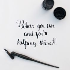 Calligraphy Quotes: Think | Sabine Fischer Photography & Design Blog