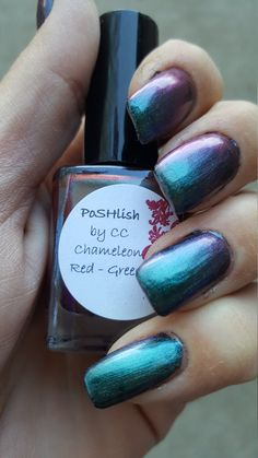 Unique Chameleon Color Shifting Red - Green Nail Polish Full Size 15ml Bottle by PoSHlish on Etsy