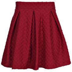 Boohoo Petite Melissa Textured Skater Skirt | Boohoo ($20) ❤ liked on Polyvore featuring skirts, red circle skirt, red flared skirt, skater skirts, textured skirt and red skirt