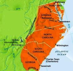 Middle Colonies Map  US History  Colonial TImes  Pinterest