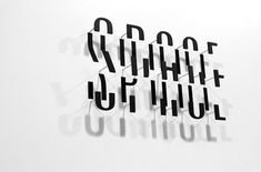 Space 3D wall typo. #thypography #art