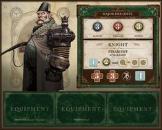 CMON is raising funds for The World of SMOG: Rise of Moloch on Kickstarter! A Victorian, adventure board game taking place in an alternative England where magic and technology have taken an extraordinary turn! Game Card Design, Board Game Design, Elemental War, Card Ui, Fantasy Wizard, Game Interface, Game Concept, Table Games, Card Templates