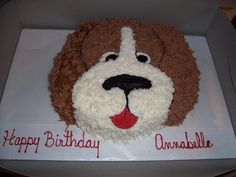 puppy cakes Puppy dog face Birthday Cakes cakes Pinterest