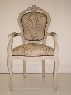 French Style Chair Handpainted and Upholstered in Harlequin Fabric €220.00