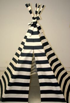 Navy Blue Stripe Tee Pee
