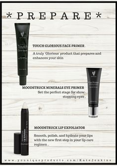 Prepare your skin with these beauties https://www.youniqueproducts.com/DanaGooding