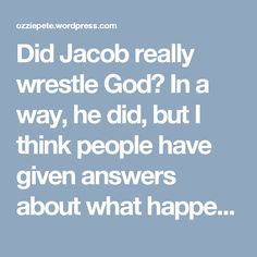 Why did god favor jacob and