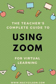 The Teacher's Guide to Using Zoom for Virtual Learning – busy ideas – preschool Teacher Tools, Teacher Resources, Kindergarten Lessons, Kindergarten Vocabulary, Vocabulary Activities, Math, Teaching Technology, Educational Technology, Online Classroom