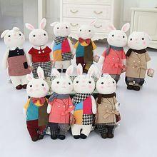Metoo nuevo diseño tamaño 35 cm tiramisú conejo de peluche de juguete lindo conejo relleno muñeca juguetes para niñas regalo de san valentín(China (Mainland))