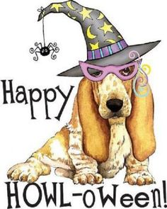 have a hound of a halloween Theme Halloween, Halloween Prints, Dog Halloween, Halloween Clipart, Halloween Stuff, Halloween Ideas, Happy Halloween, Halloween Decorations, Comic Cat